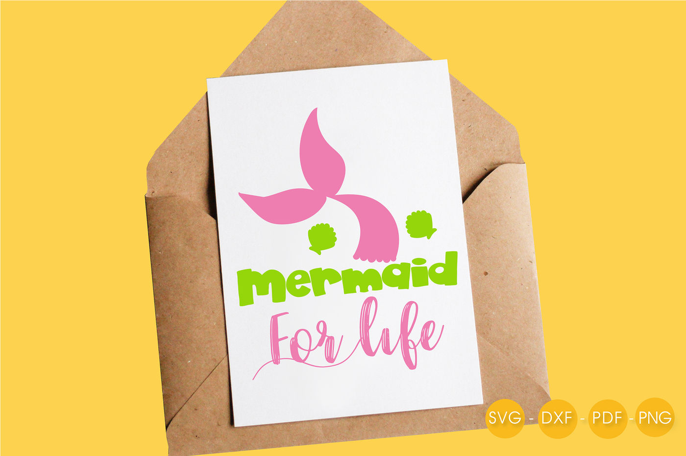 Mermaid For Life Svg Png Eps Dxf Cut File By Prettycuttables