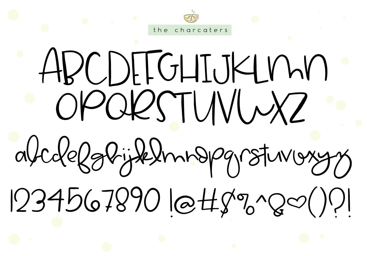 Lemon Drop A Cute Quirky Font By Ka Designs Thehungryjpeg Com