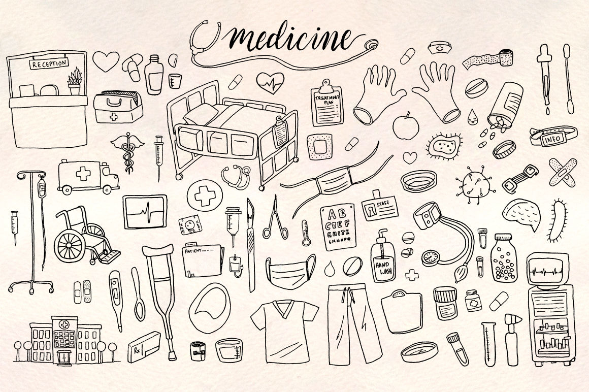 86 Medical And Hospital Vector Graphics By Violet Lebeaux
