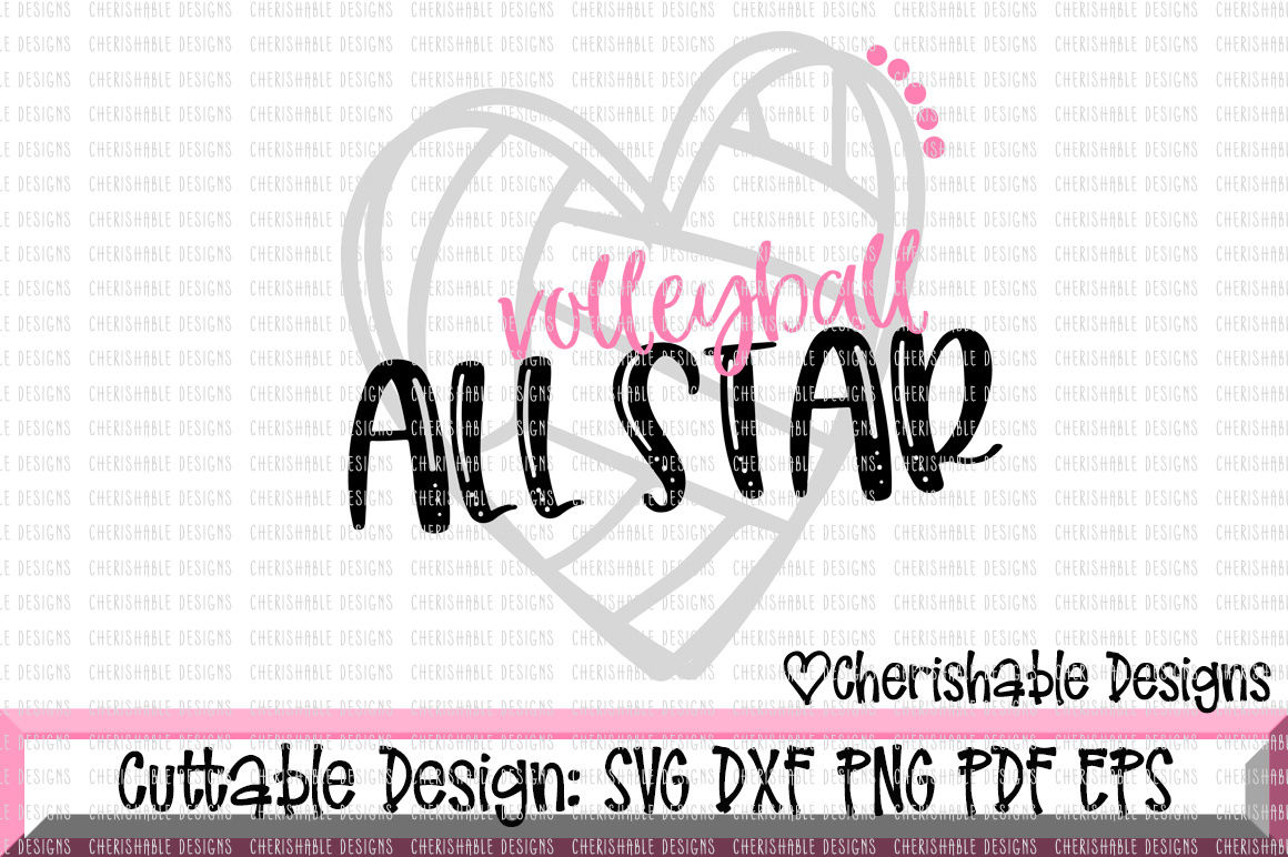 Volleyball All Star Svg By Cherishable Designs Thehungryjpeg Com