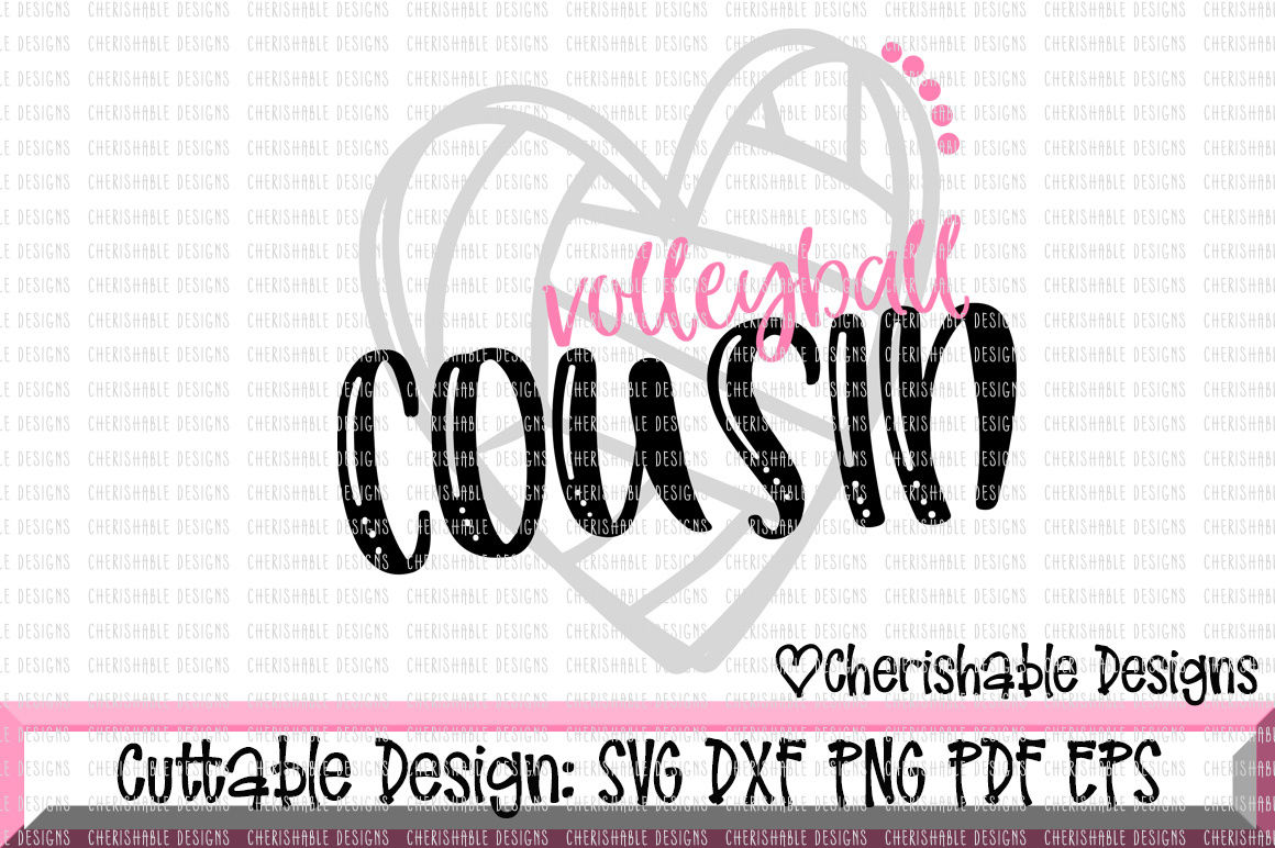 Volleyball Cousin Cutting File By Cherishable Designs