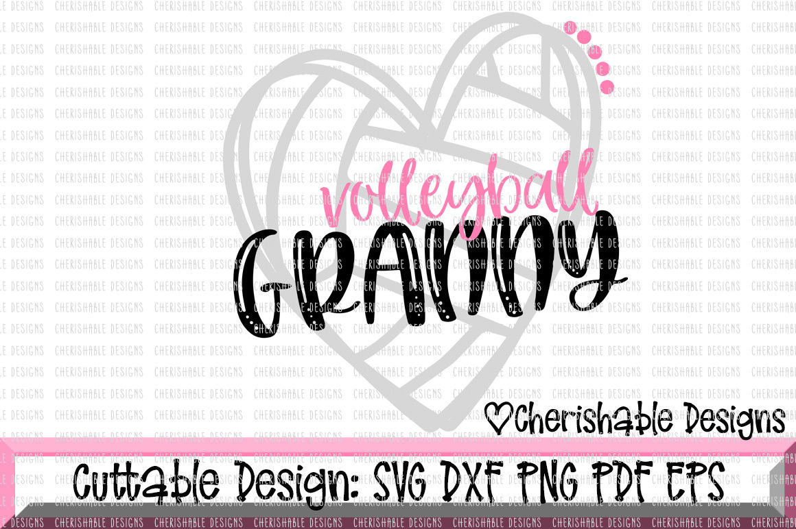 Volleyball Granny Cutting File By Cherishable Designs