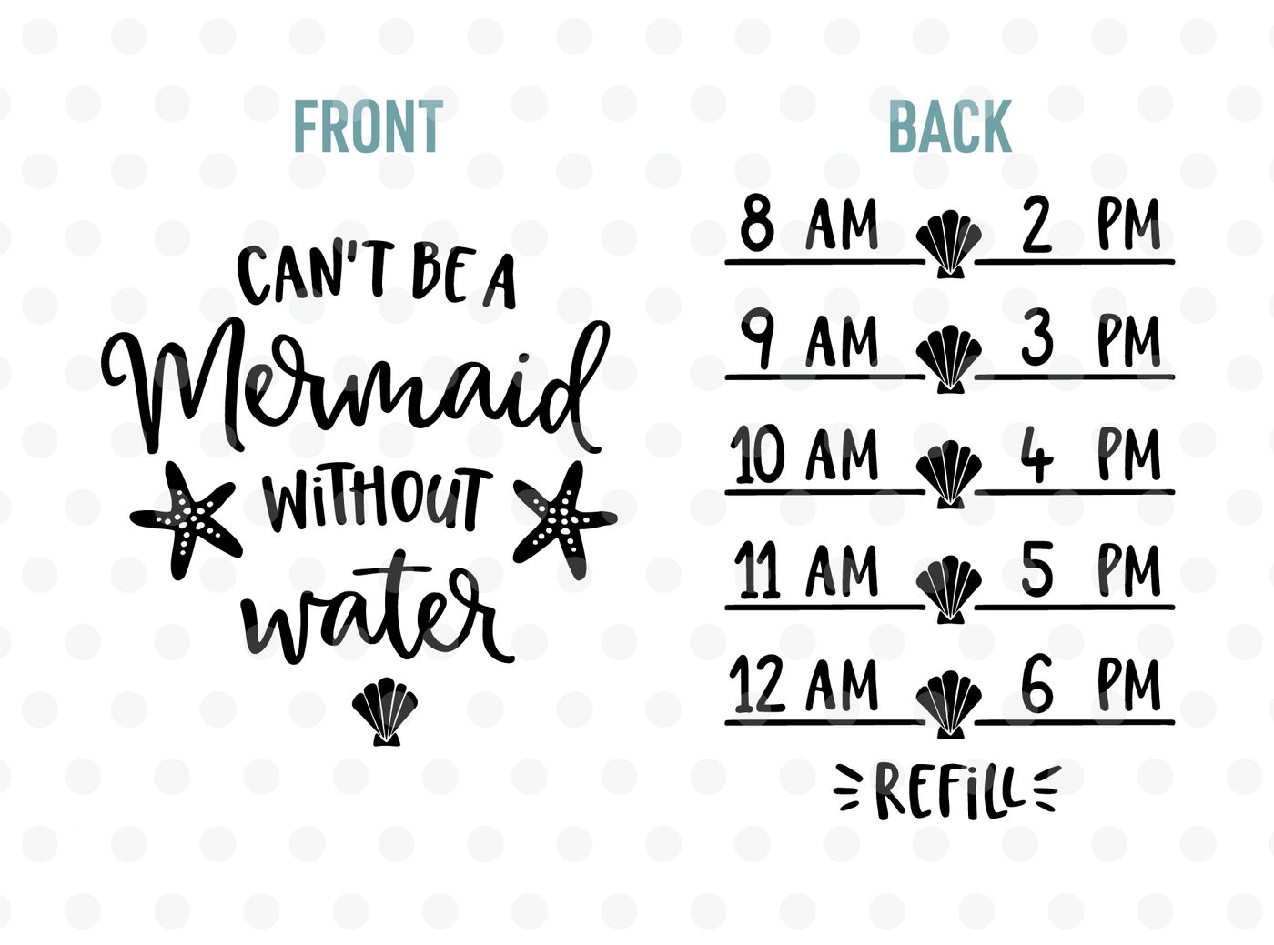 Cant Be A Mermaid Without Water Svg Eps Png Dxf By Tabita S