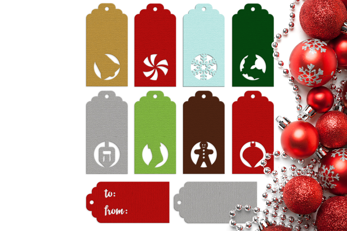Christmas Gift Tag Png.Winter Holiday Gift Tags Svg Png Dxf By Designed By