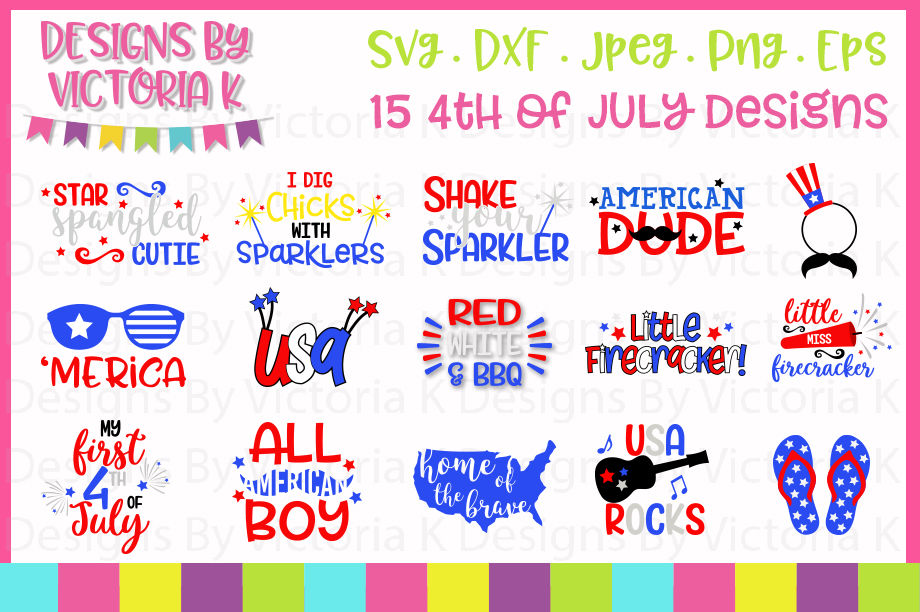 4th July Svg Bundle Svg Dxf Png Eps By Designs By Victoria K