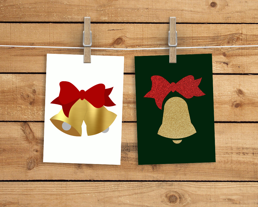 Christmas Bells With Bow Svg Png Dxf By Designed By Geeks