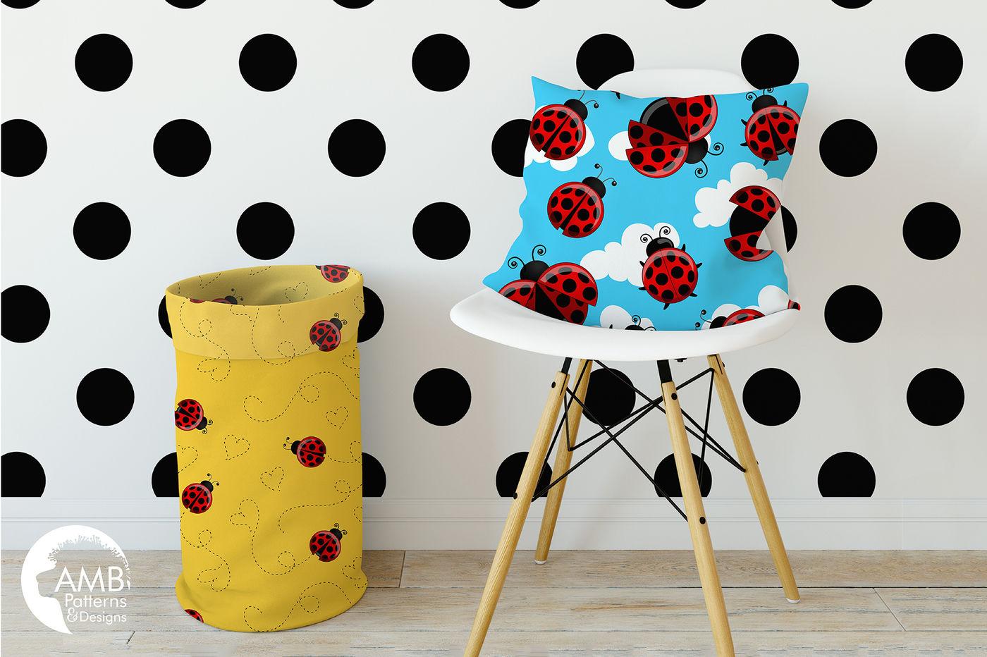 lovely ladybug surface patterns ladybug paper amb1059
