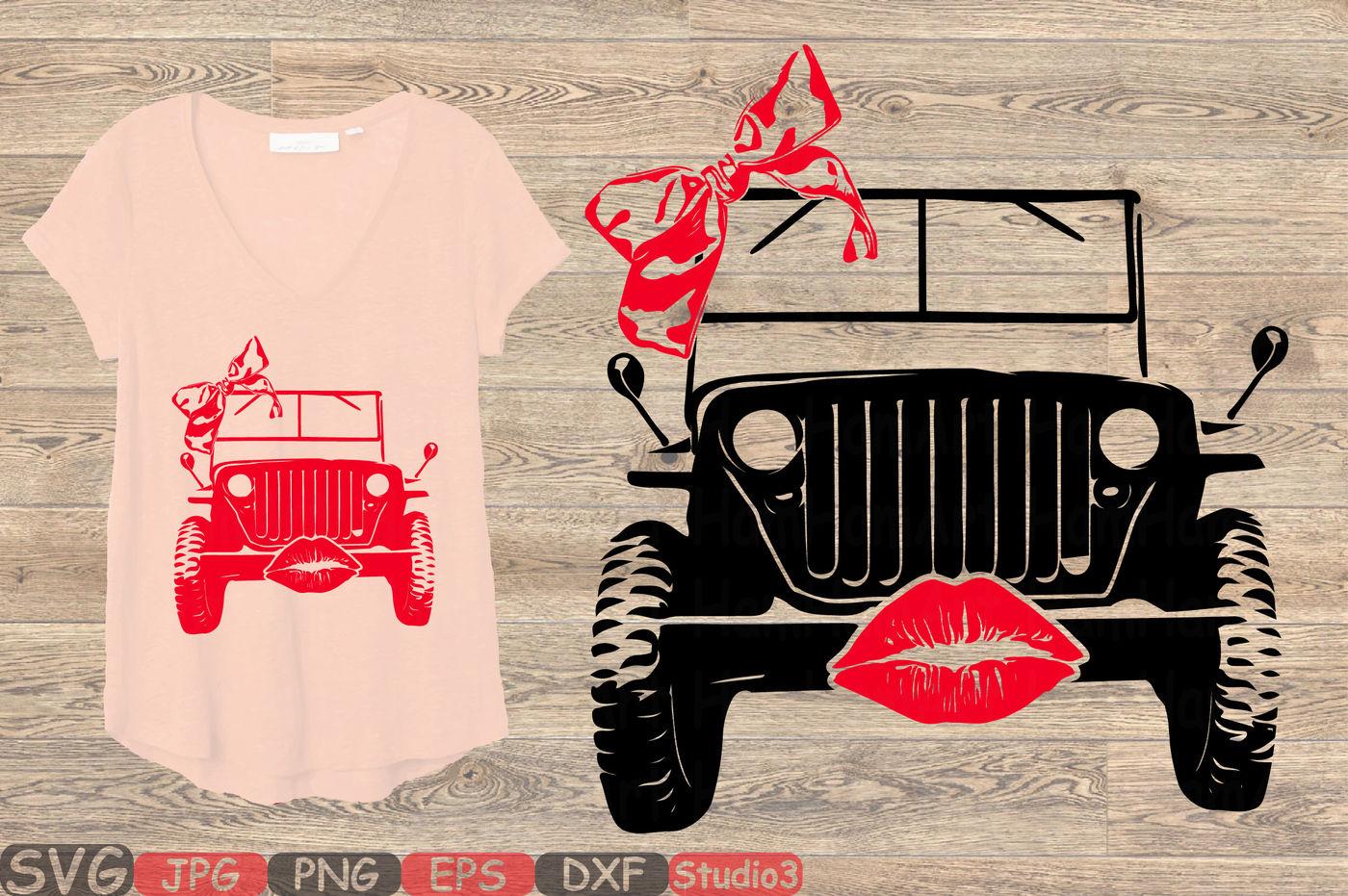 Jeep Lips Svg Jeep Girl Svg Silhouette Svg 87sv By Hamhamart