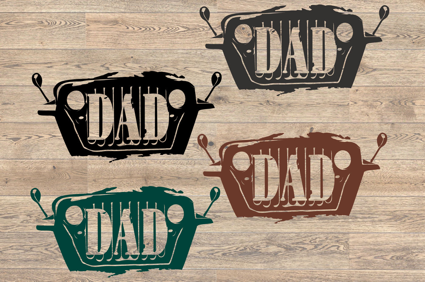 Dad Jeep Svg Fathers Day Svg Silhouette Svg 89sv By Hamhamart
