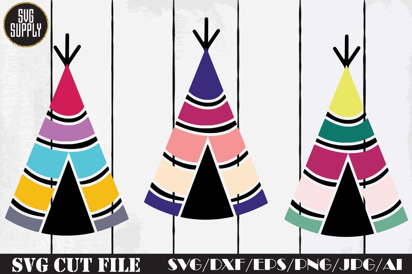Boho Tent Svg Cut File By Svgsupply Thehungryjpeg Com