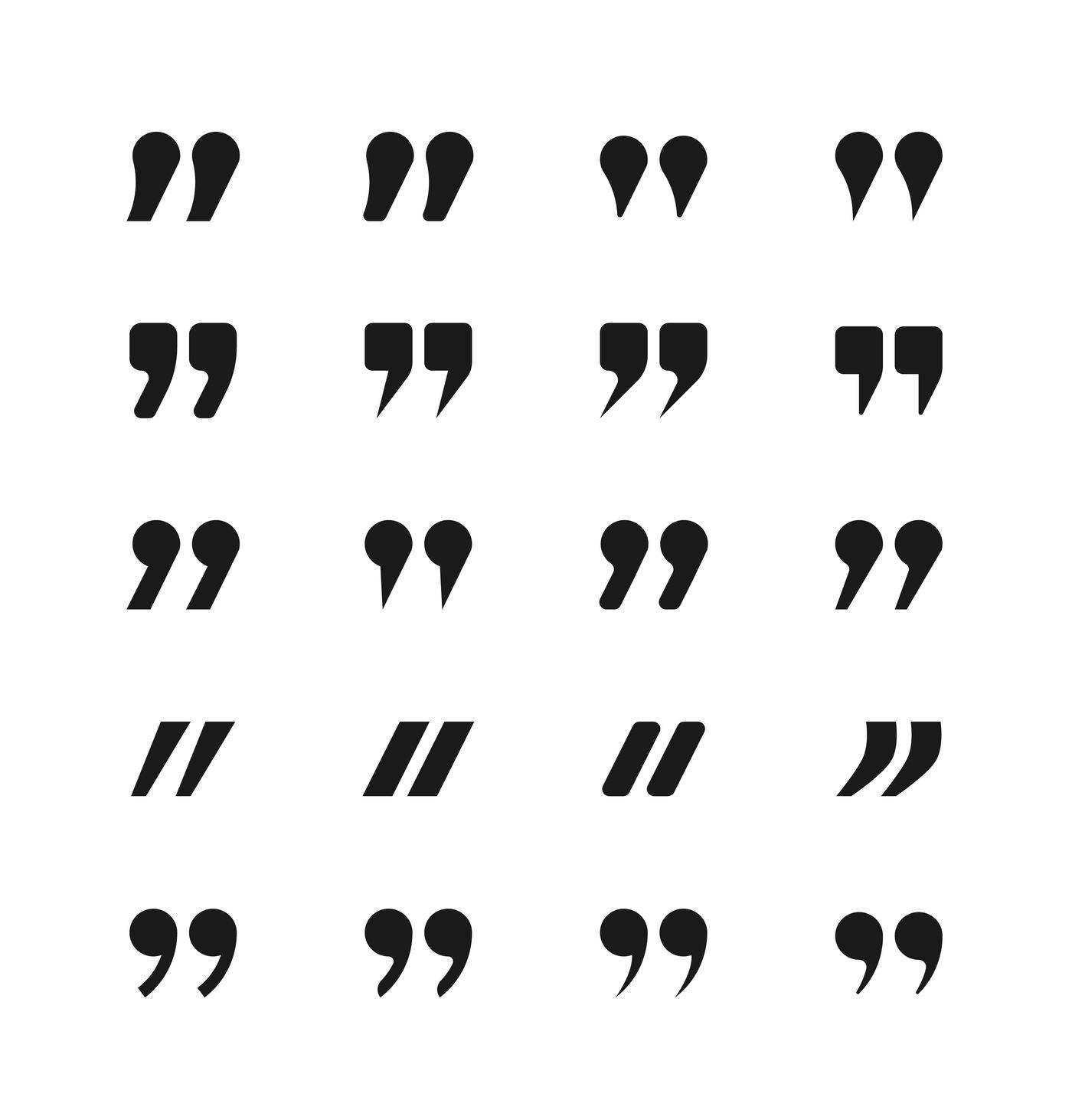 Quote And Quotation Marks Icons By Microvector Thehungryjpeg Com