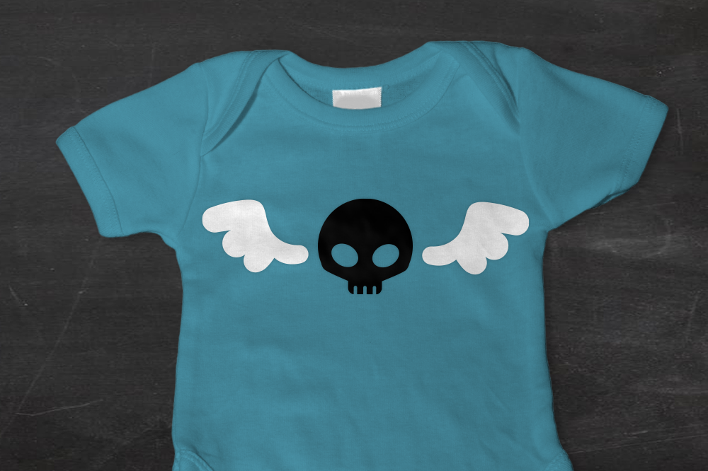 Cute Skull With Wings Svg Png Dxf By Designed By Geeks