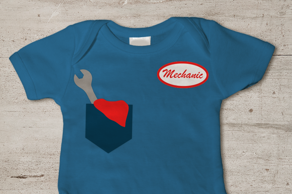 Mechanic Pocket And Name Badge Svg Png Dxf By Designed By