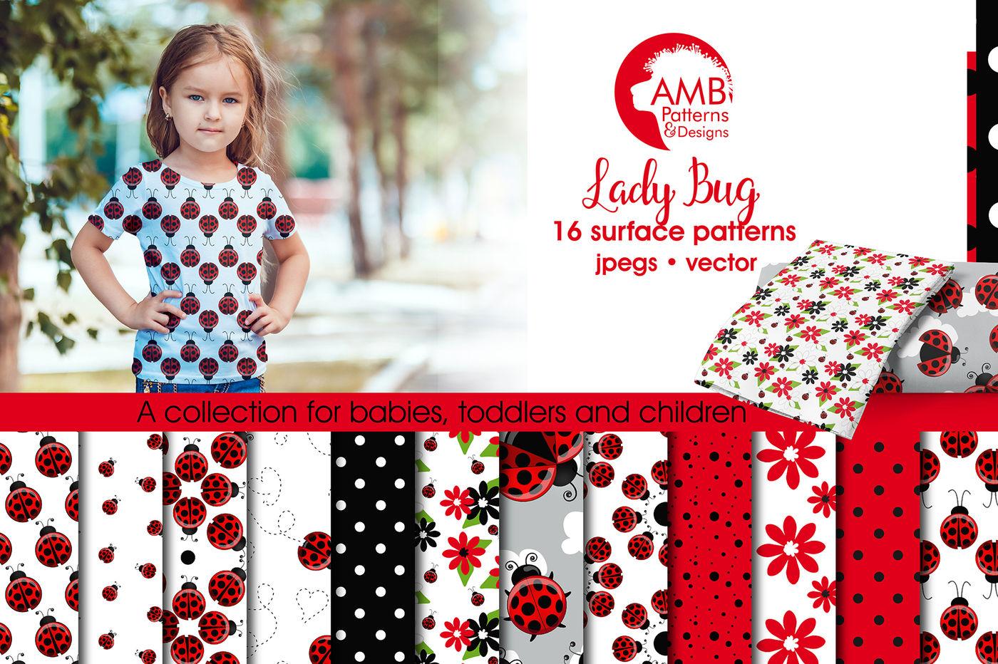 lady bug patterns ladybug papers amb1928
