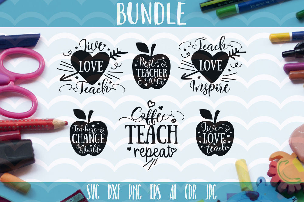 Teachers Svg Funny School Quotes Bundle Teacher Gift 6 Design By