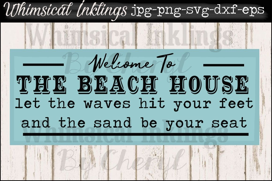 The Beach House Vintage Sign Svg By Whimsical Inklings