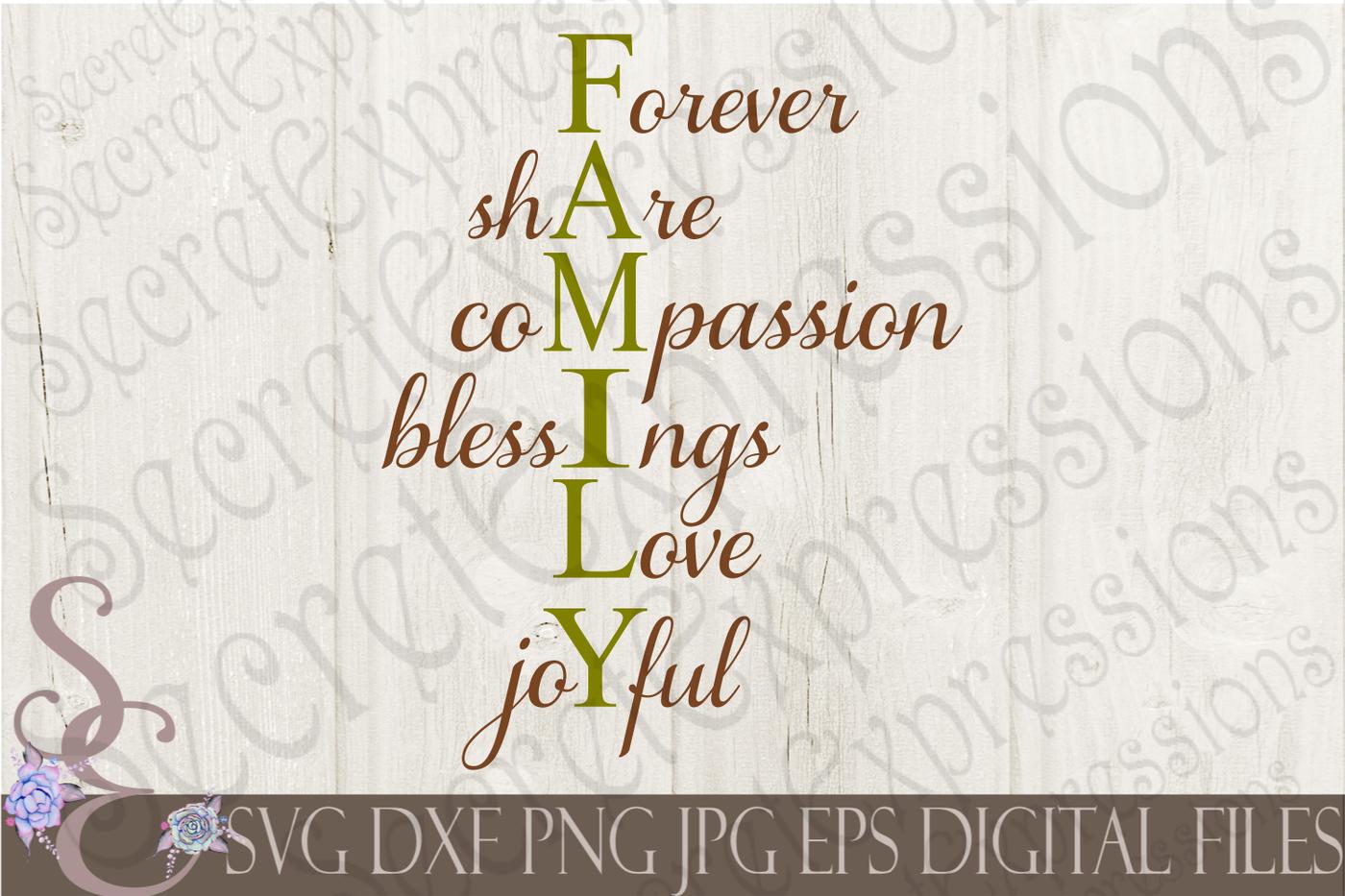 Family Svg Bundle 9 Designs By Secretexpressionssvg