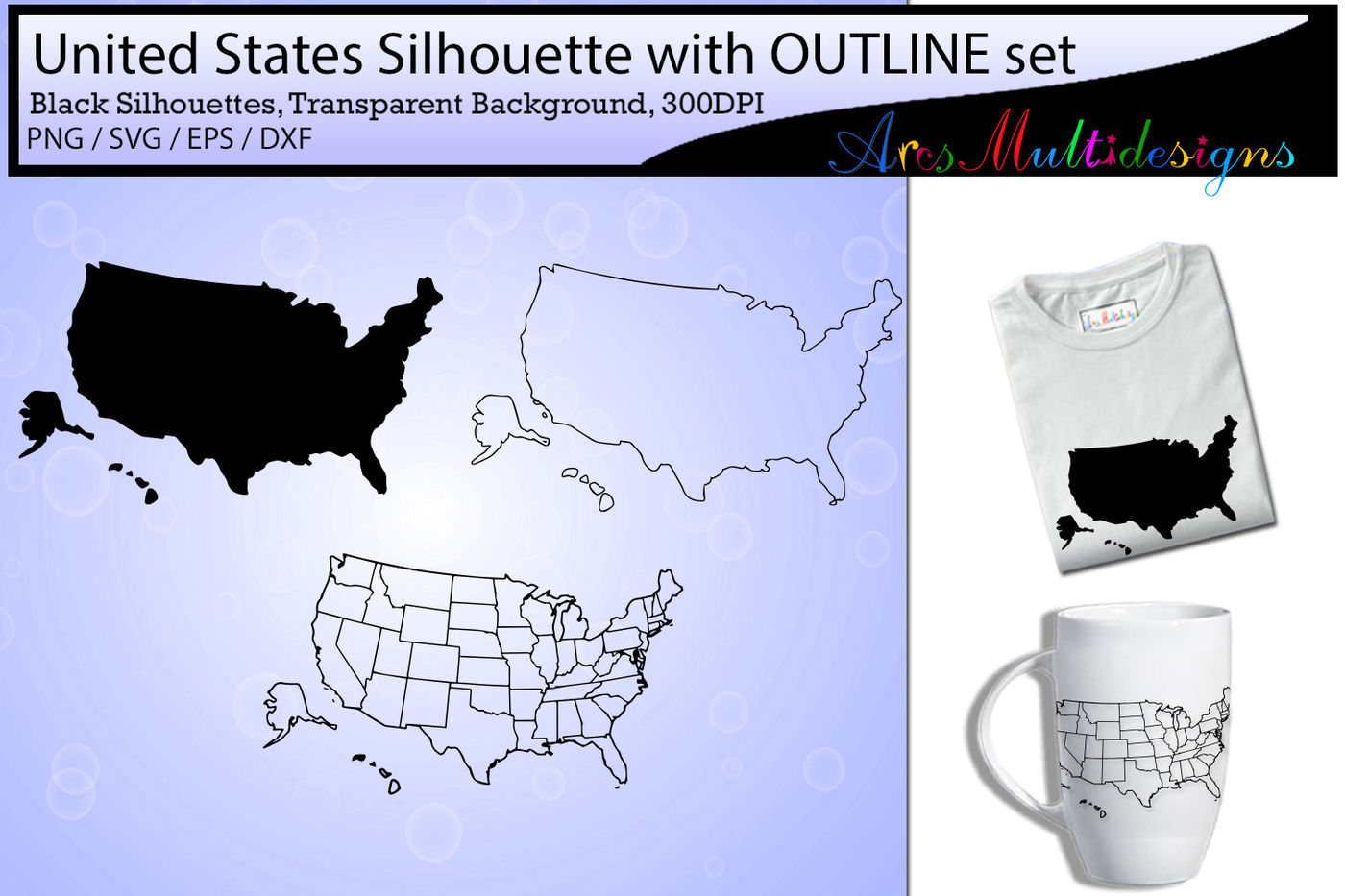 united states map outline / united states map silhouette ...