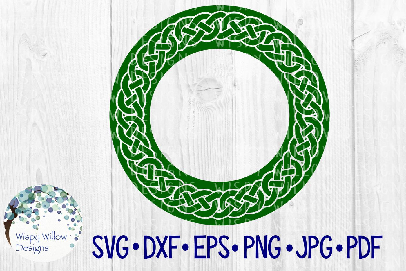 Bold Celtic Mandala Circle Name Monogram Frame Border By