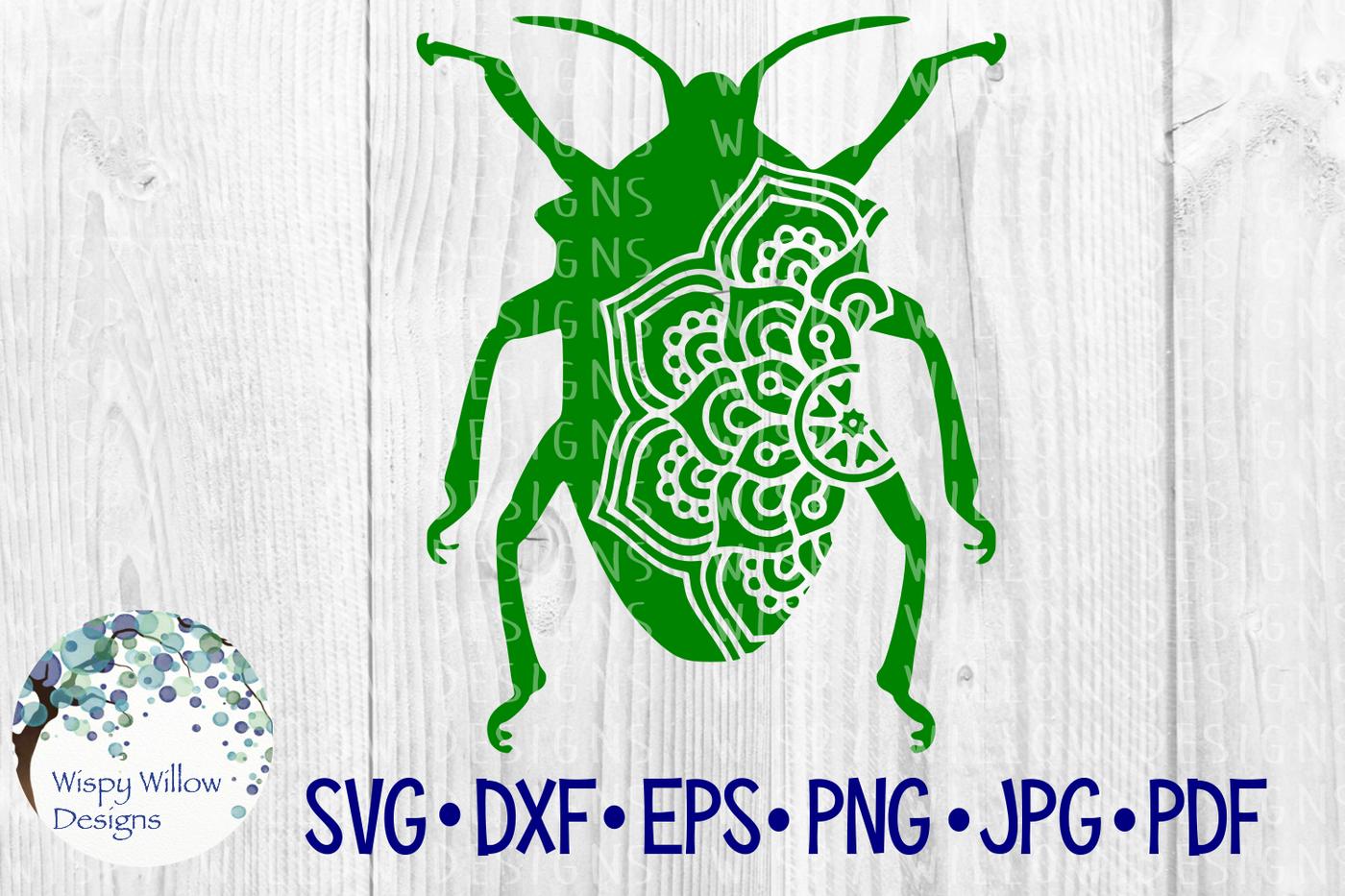 Beetle Mandala Animal Cut File By Wispy Willow Designs