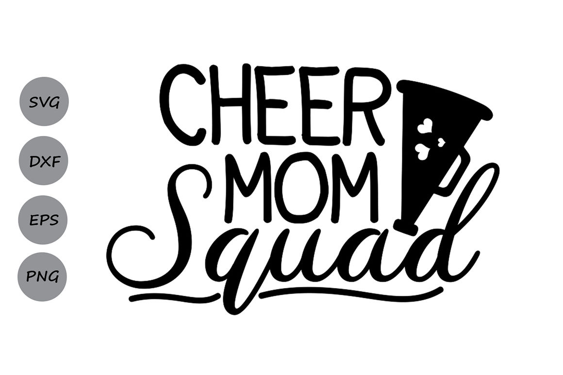 Cheer Mom Squad Svg Cheer Mom Svg Cheer Svg Mom Squad Svg By