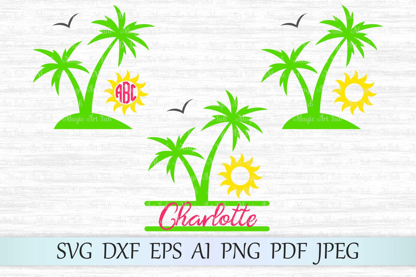 Palm Palm Tree Svg Dxf Eps Ai Png Pdf By Magicartlab