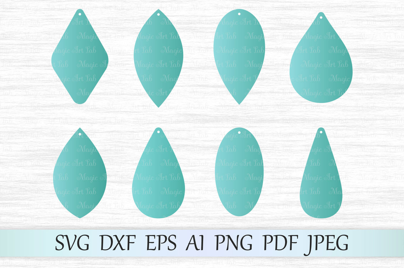 Earring Template Svg Dxf Eps Ai Png Pdf Jpeg By Magicartlab