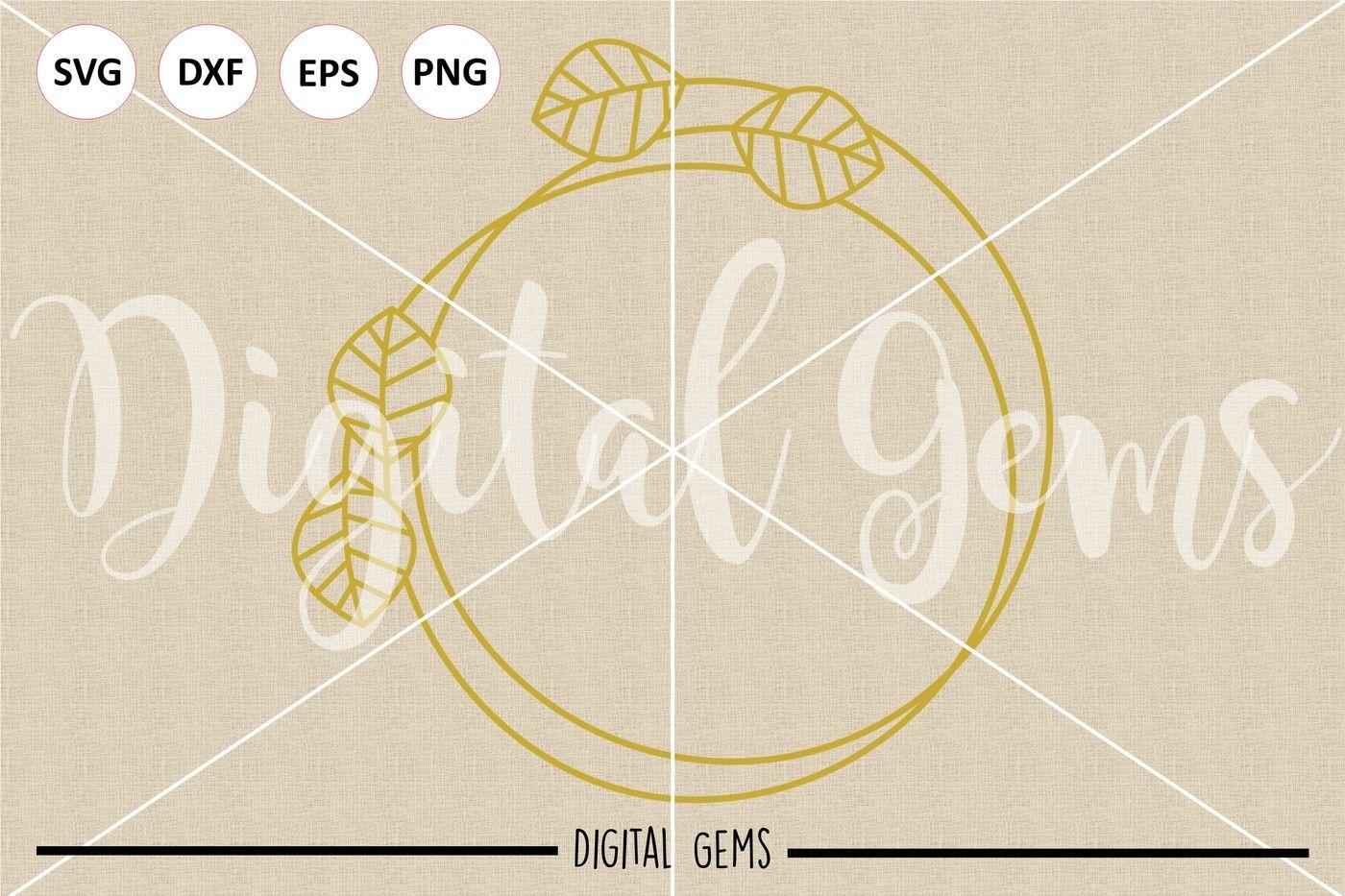 Monogram Frame Svg Dxf Eps Png Files By Digital Gems Thehungryjpeg Com