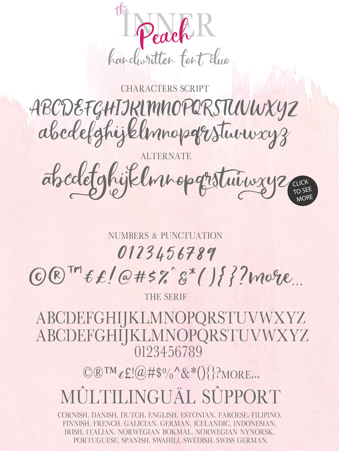 The Inner Peach Font Duo By Nursery Art Thehungryjpeg Com