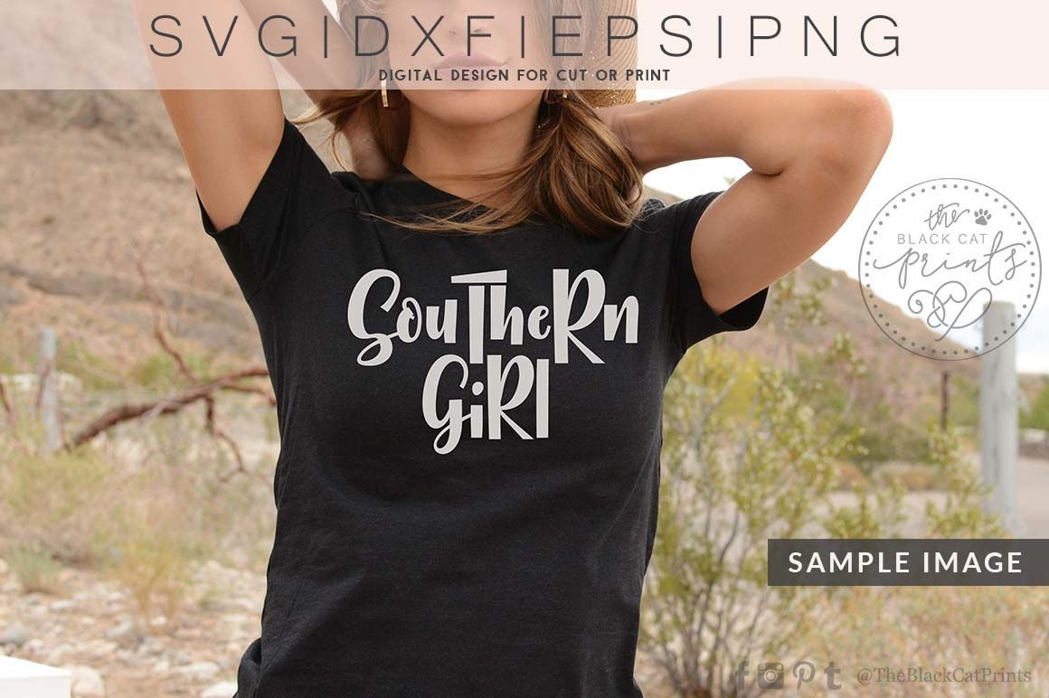 Southern Girl Southern Mama Svg Dxf Eps Png By Theblackcatprints