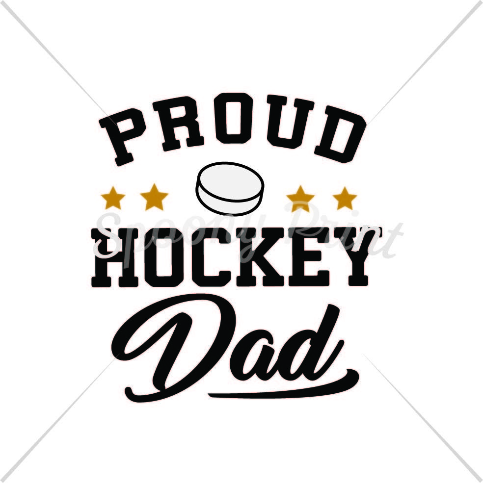 Proud Hockey Dad By Spoonyprint Thehungryjpeg Com