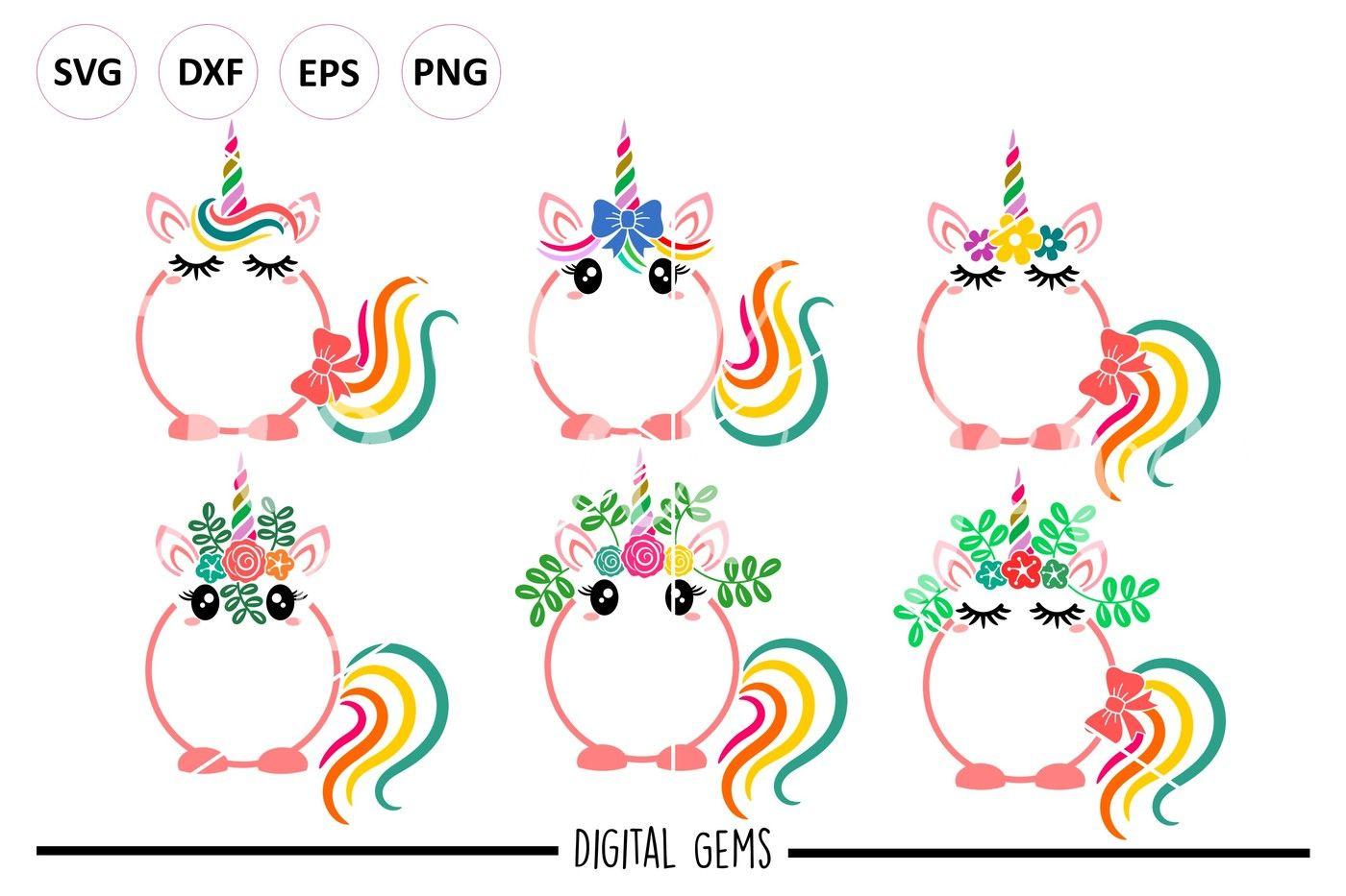 Unicorn Svg Dxf Eps Png Files By Digital Gems