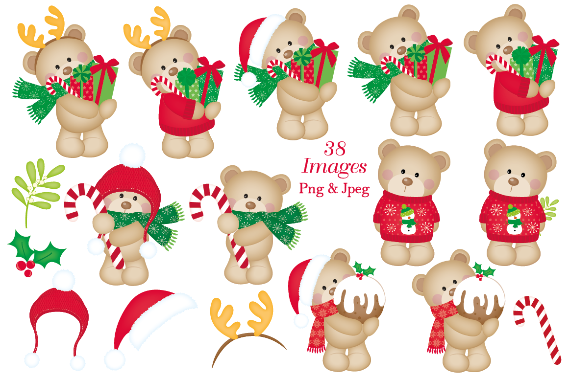 Christmas Clipart Christmas Graphics Illustrations By Jo