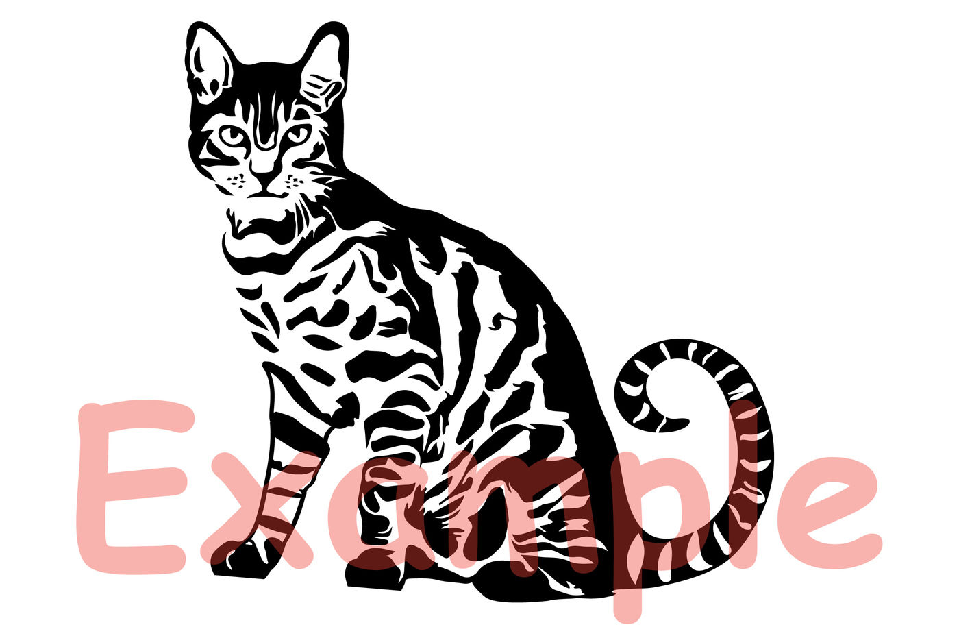 Cat Svg Cutting Files Clip Art Wild Animal Farm Claw Zoo 879s By
