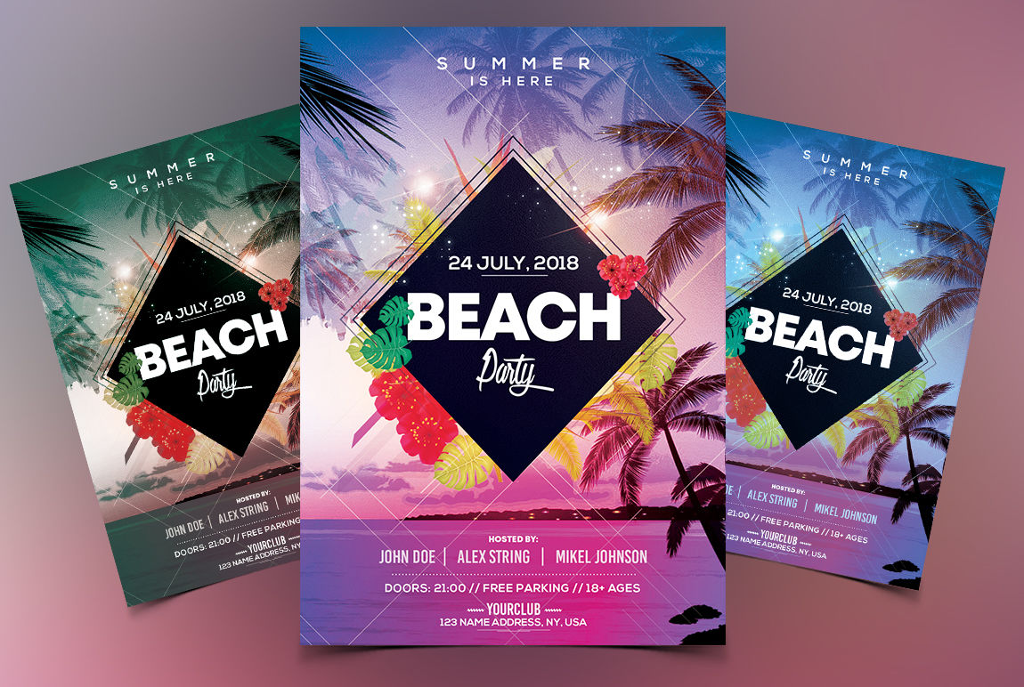 Beach Party - PSD Flyer Template By Fidan Selmani