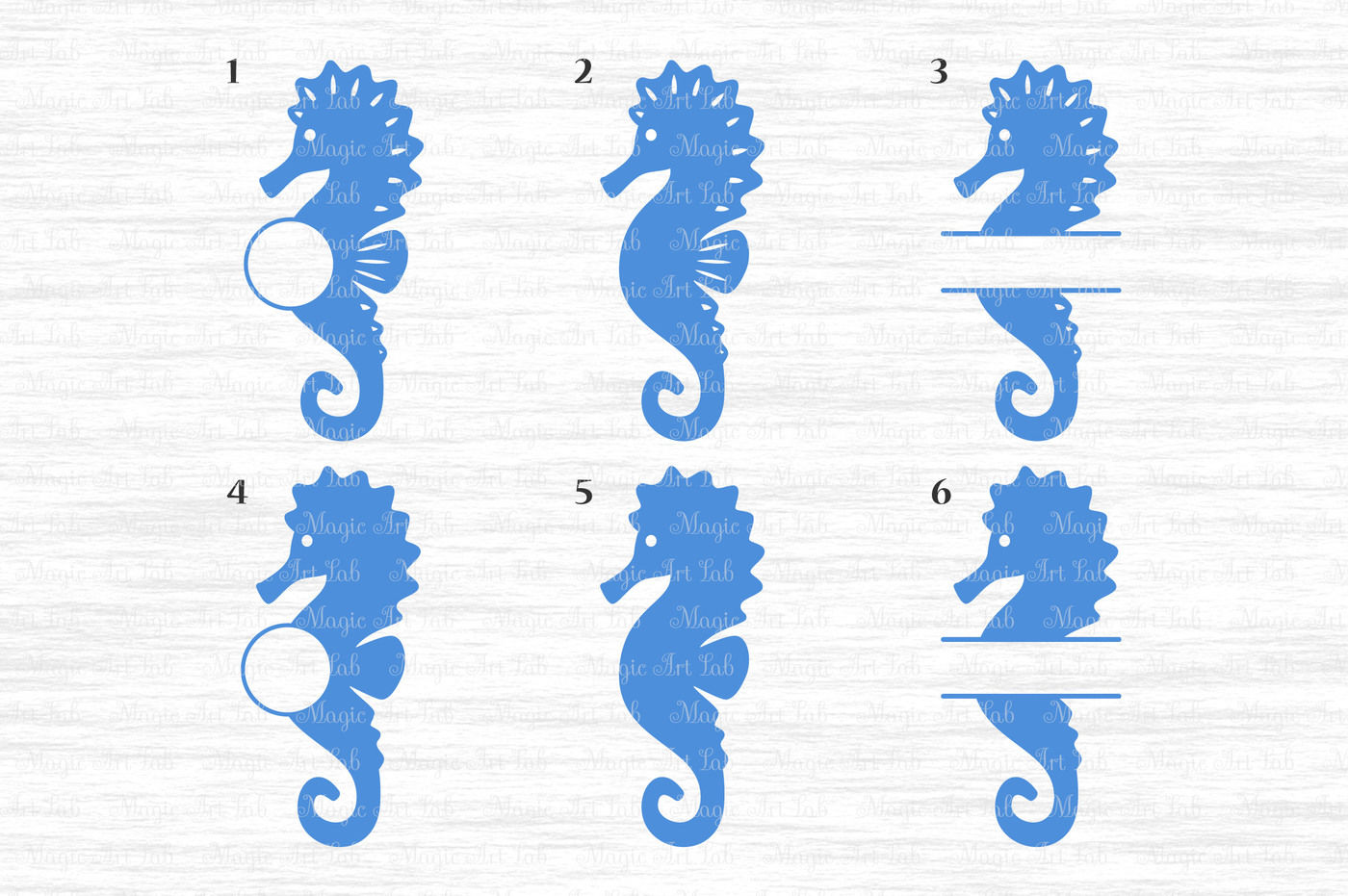 Seahorse Sea Horse Monogram Svg Dxf Eps Ai Png Pdf Jpeg By