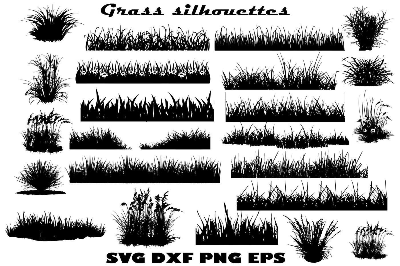 Grass Silhouettes By Twelvepapers Thehungryjpeg Com