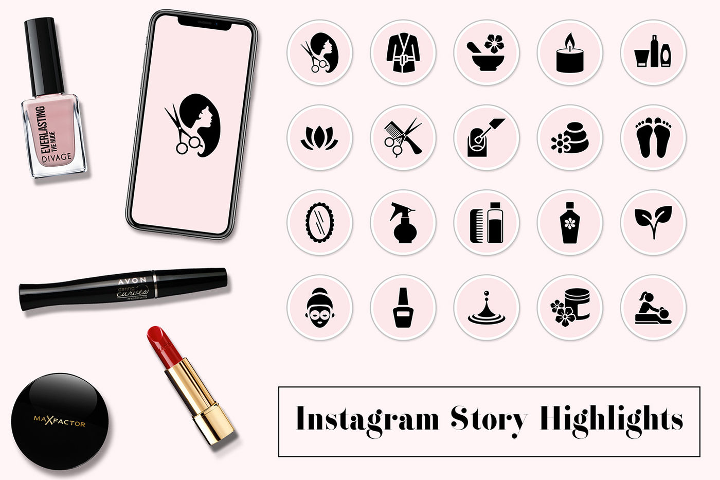 Spa Instagram Story Icons By North Sea Studio Thehungryjpeg Com