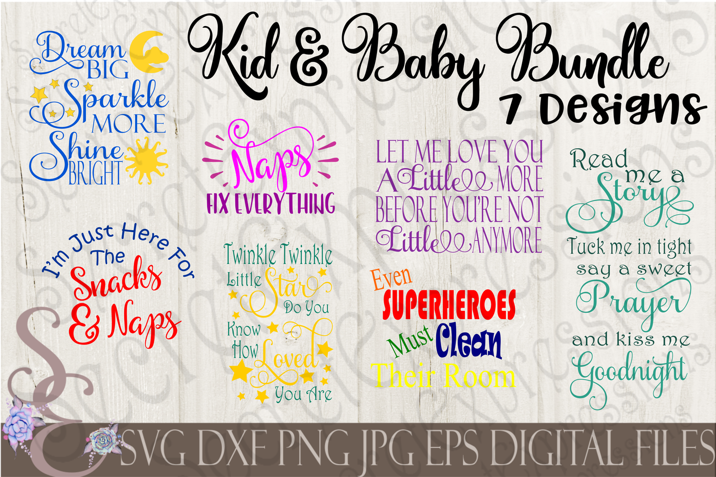 Kid And Baby Svg Bundle By Secretexpressionssvg Thehungryjpeg Com