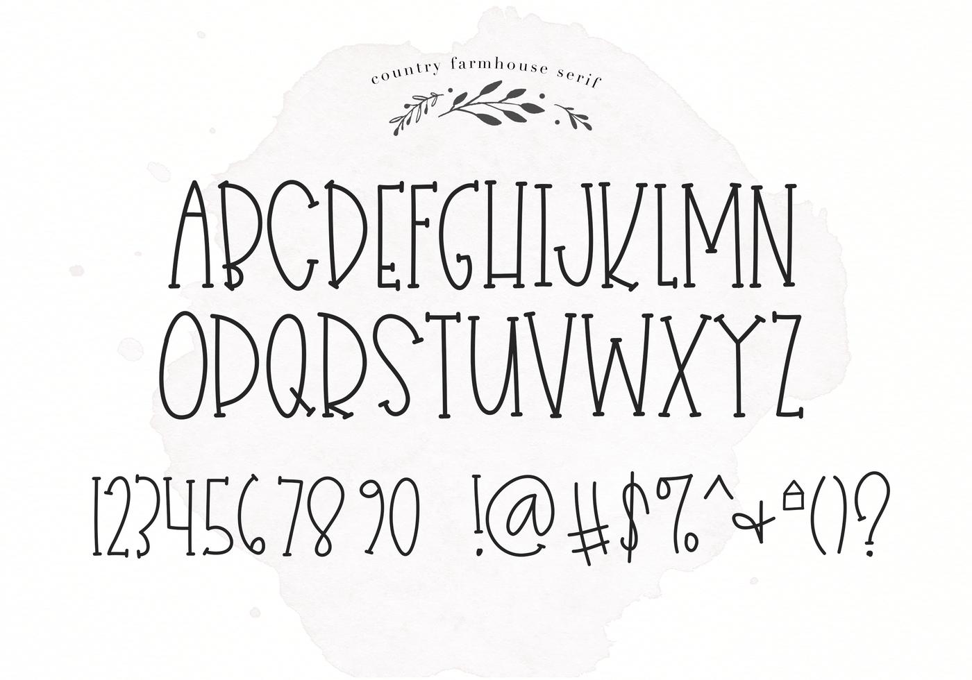 Country Farmhouse - A Script & Serif Duo Font By KA Designs