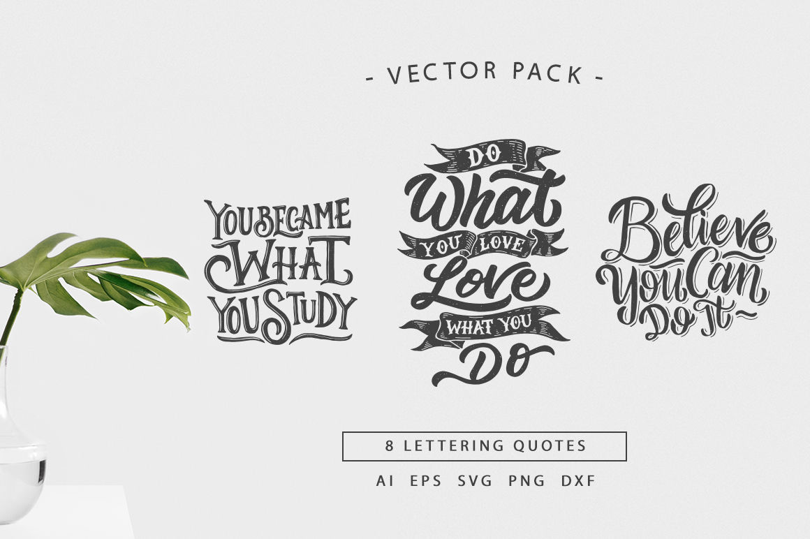 Svg Bundle Hand Lettering Motivational Quotes Vol 2 By Weape