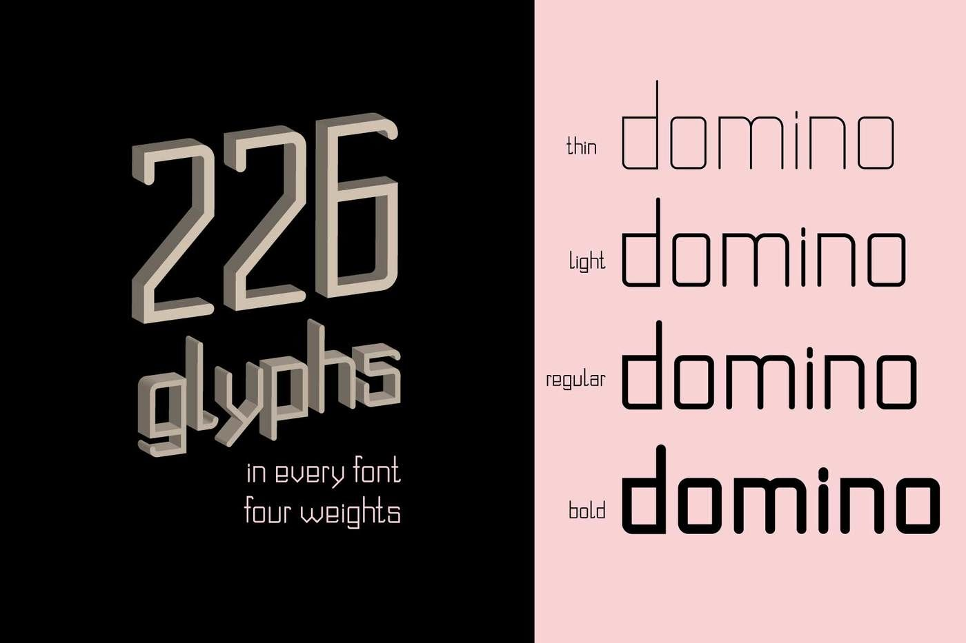 Domino Font Family By Zimages Thehungryjpeg Com