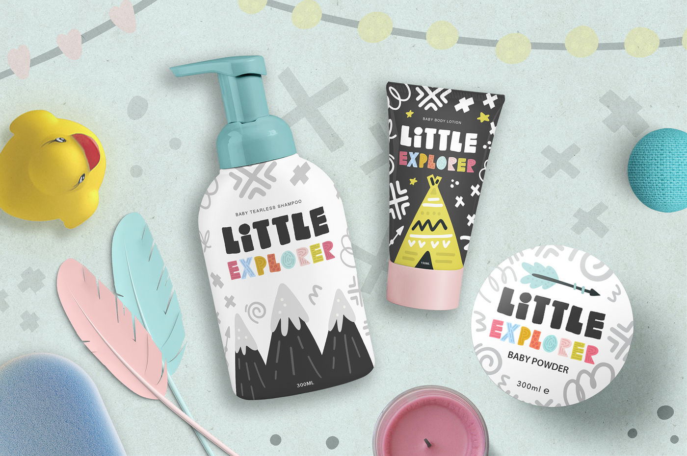 Download Little Shampoo Bottle Mockup Yellowimages