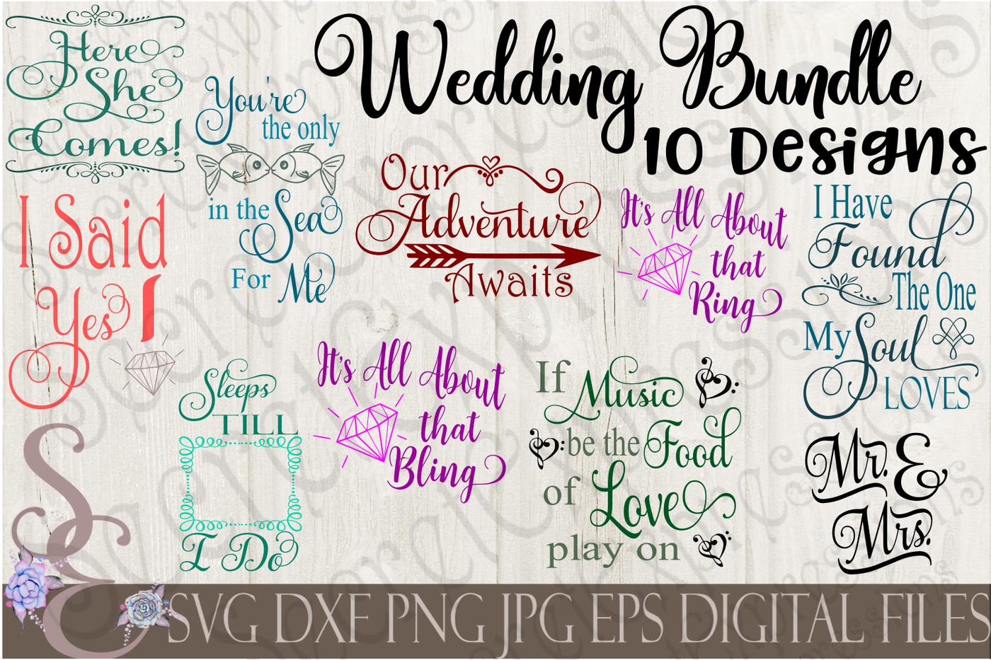 Wedding Svg Bundle By Secretexpressionssvg Thehungryjpeg Com