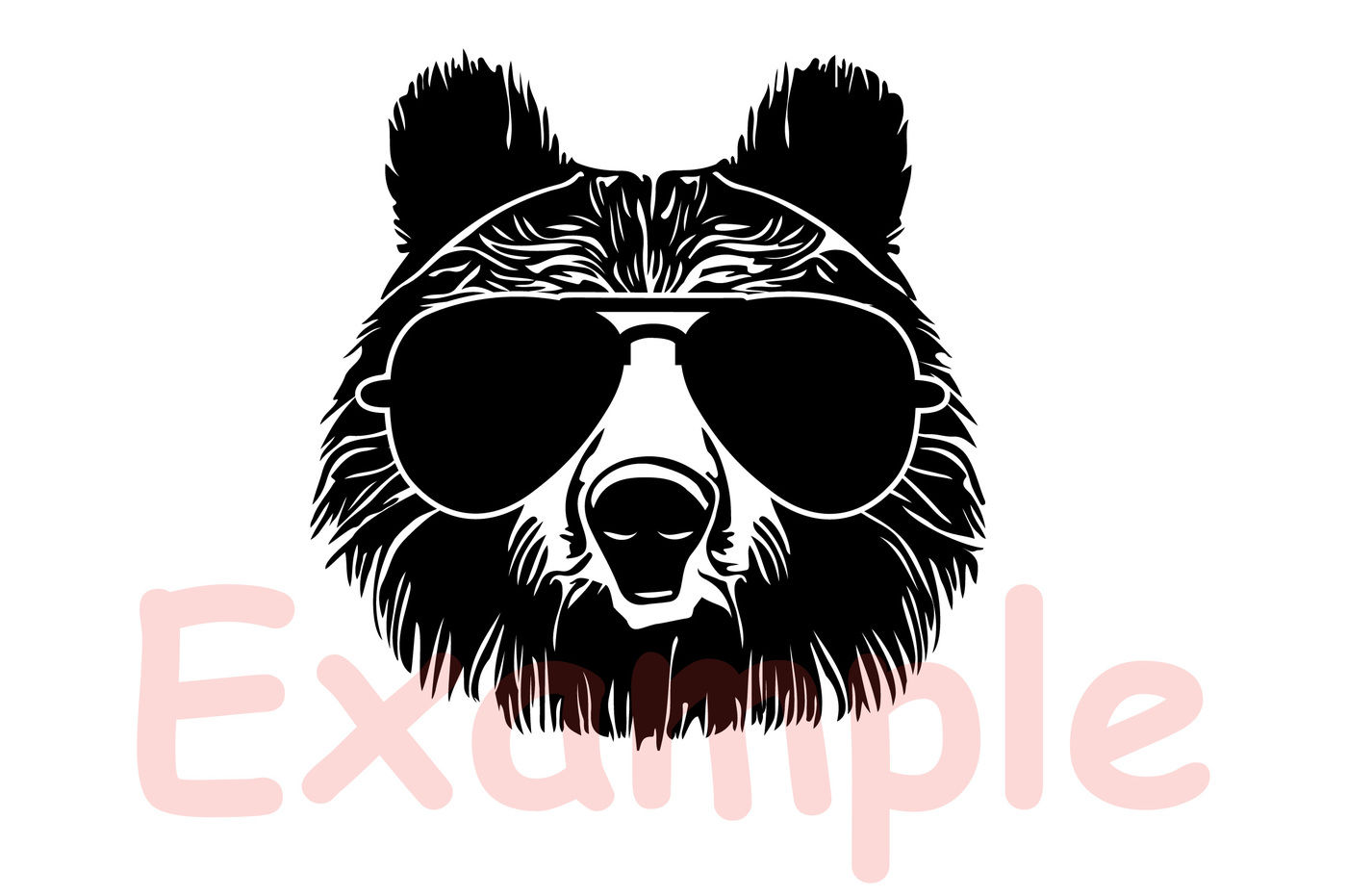 Bear Whit Glasses Silhouette Svg Momma Mom Mama Dad Daddy Papa