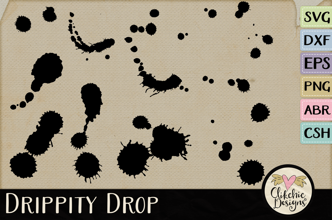 Drippity Drop Svg Cutting Files Brushes Custom Shapes By