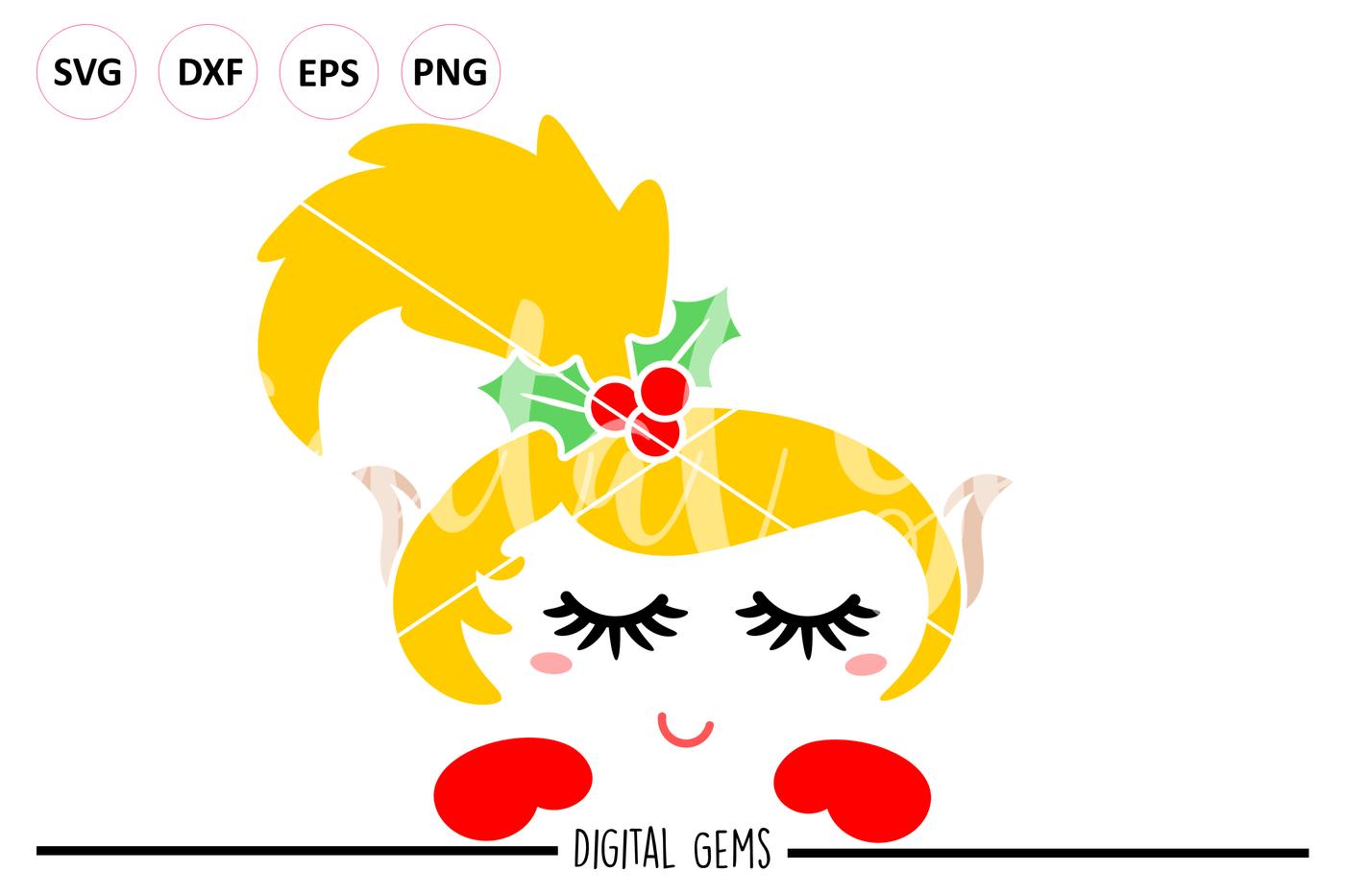 Elf Svg Dxf Eps Png Files By Digital Gems Thehungryjpeg Com
