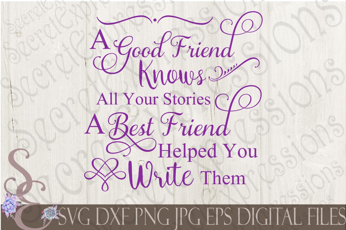 Friend Friendship Svg Bundle By Secretexpressionssvg