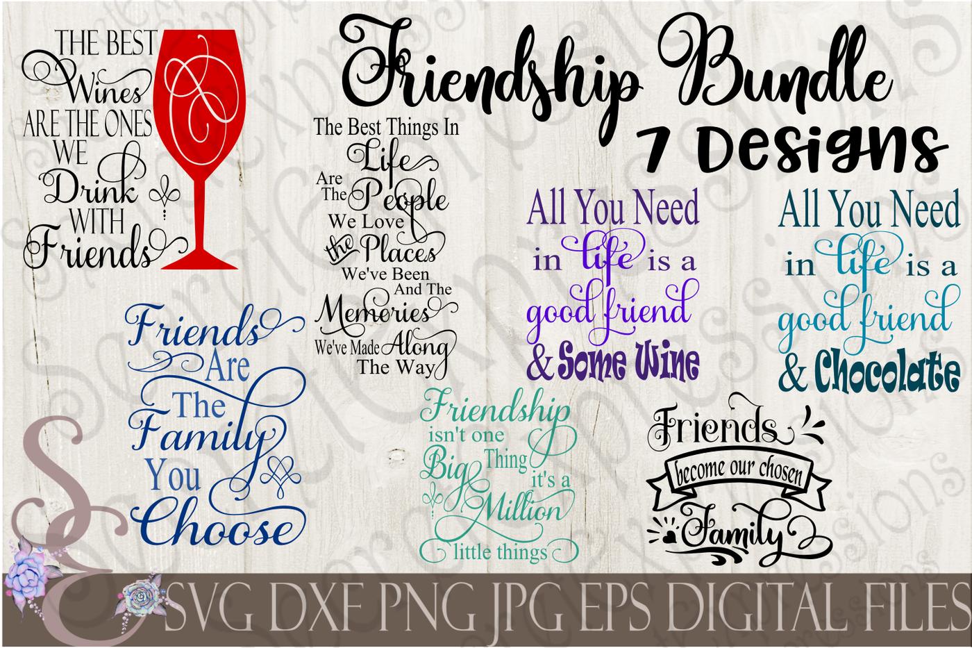 Friendship Friend Svg Bundle By Secretexpressionssvg