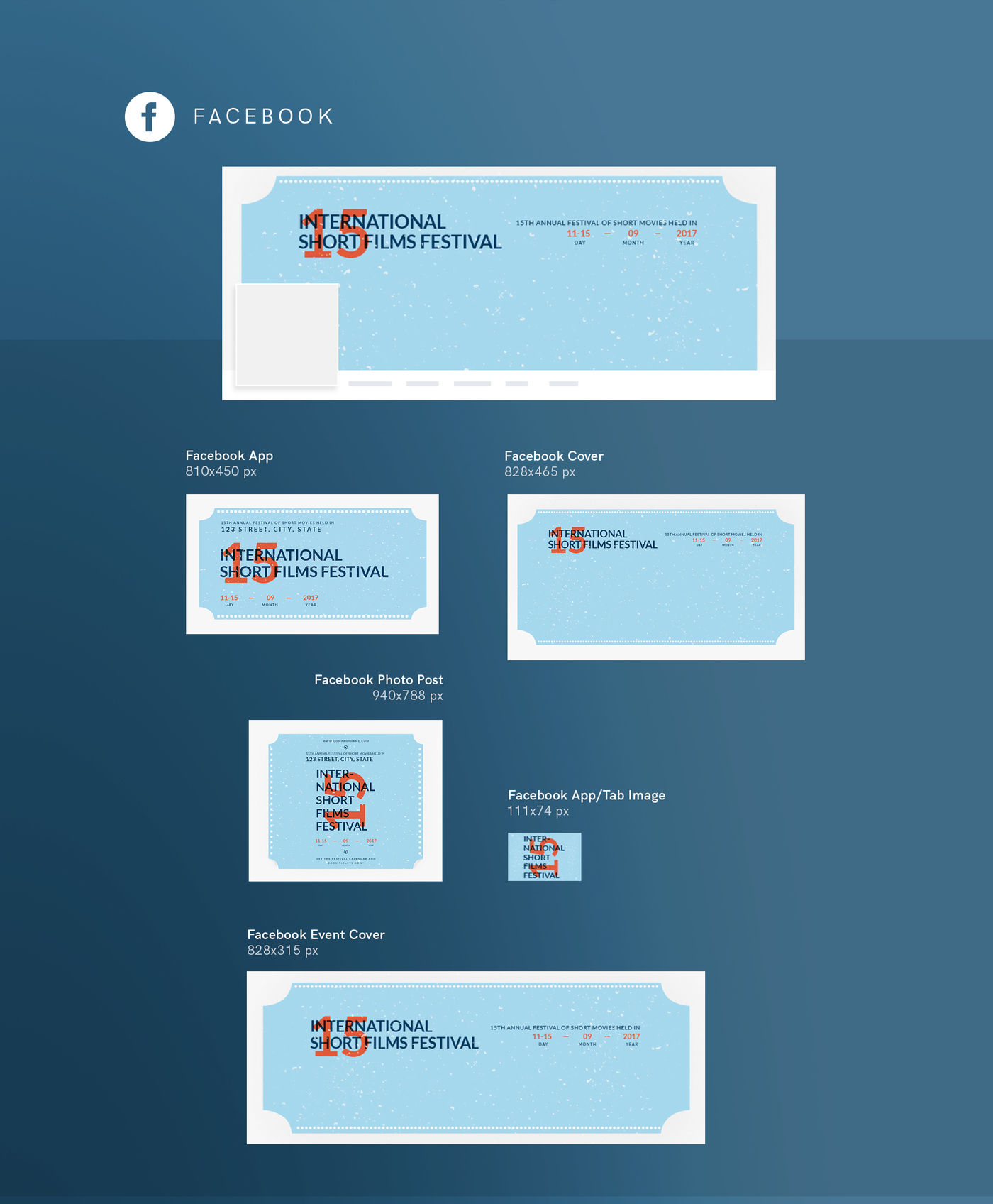 Design Templates Bundle Flyer Banner Branding Film Festival